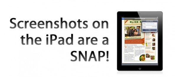 How to take a screenshot with an iPad